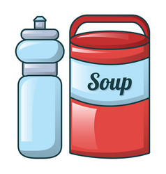 water soup icon cartoon style vector image