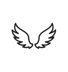 wing icon design template isolated vector image