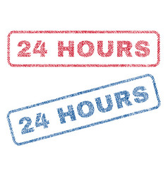 24 hours textile stamps vector image