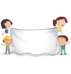 banner kids vector image