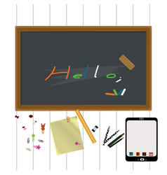 blackboard with writing vector image