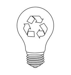 bulb save eco icon vector image vector image