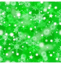 Shiny green winter seamless pattern vector image
