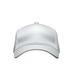 White Baseball Cap Isolated on White Background vector image