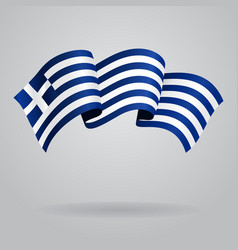 Greek waving Flag vector image vector image
