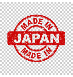 made in japan red stamp on isolated background vector image
