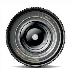 professional camera lens vector image vector image