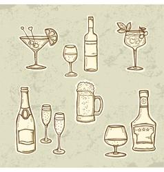 Alkohol Drinks Set vector image