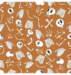Halloween skeletons pattern 03 vector image