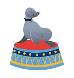 sealion cartoon animal icon vector image