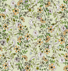 seamlessly pattern with flowers vector image vector image