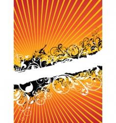 swirling floral background banner vector image vector image