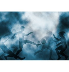 Women playing football vector image vector image