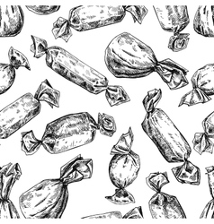 Candy seamless pattern in hand drawn style vector image