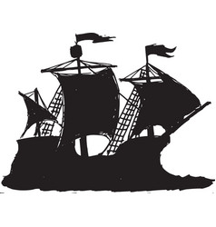 caravel vector image vector image