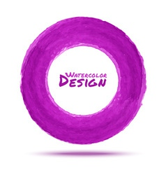 Hand drawn watercolor purple circle design element vector image vector image