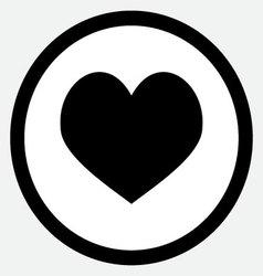 Heart icon black vector image vector image