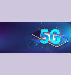 5g banner hi-tech vector image