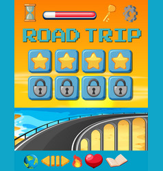 a road trip game template vector image
