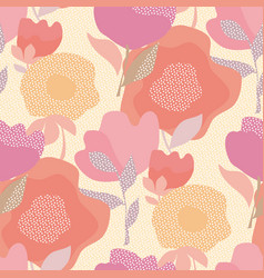 Abstract pastel color floral seamless pattern vector