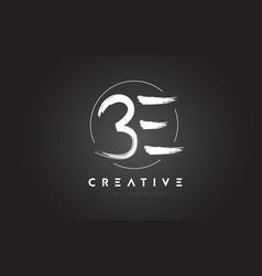 be brush letter logo design artistic handwritten vector image