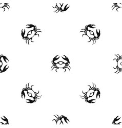big crab pattern seamless black vector image