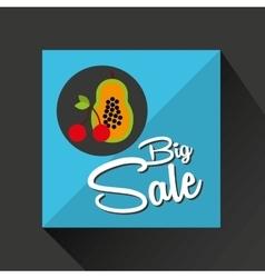 Big sale concept tasty papaya cherry vector