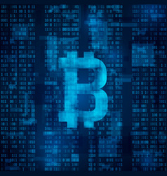 bitcoin digital currency symbol of bitcoin on vector image