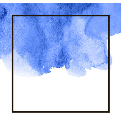 blue watercolor splotch vector image