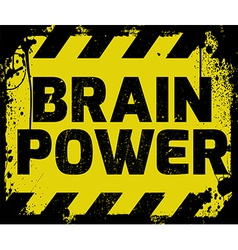 Brain Power sign vector