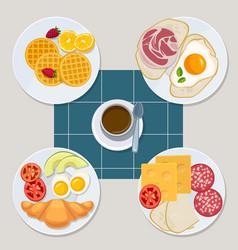 breakfast food healthy everyday products menu vector image