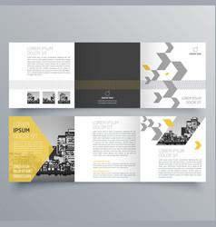 brochure design 1050 vector image