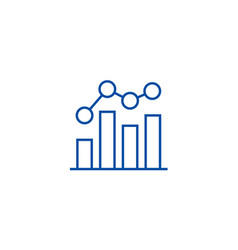 business chart bar graph line icon concept vector image