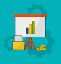 business growth icons vector image