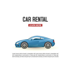 Car rental modern blue vector