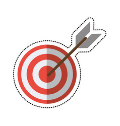 cartoon target arrow strategy market vector image