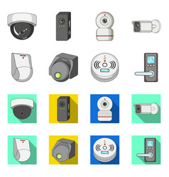 cctv and camera icon set vector image