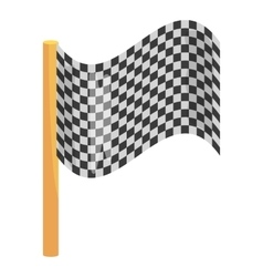 Chequered flag icon cartoon style vector