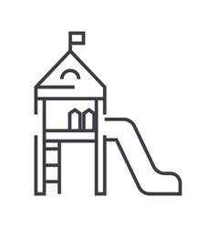 children playgroundsmall house with a slide vector image