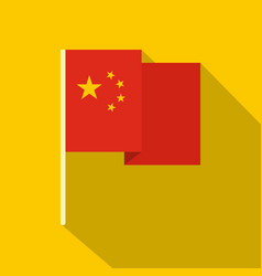 chinese national flag icon flat style vector image