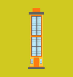 City skyscraper building urban design element vector