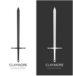 Claymore sword logo template vector