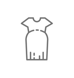 Clothes for pregnant women oversized dress line vector