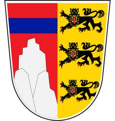 Coat of arms of oberallgau in swabia bavaria vector