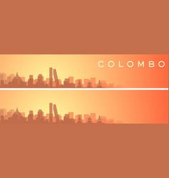 colombo beautiful skyline scenery banner vector image