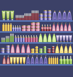 Cosmetic supplies in the supermarket vector