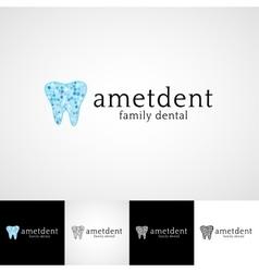 Creative dental logo template Teethcare icon set vector image