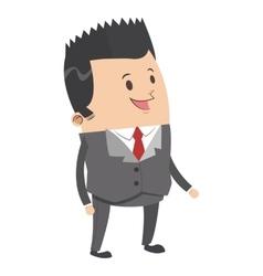Cute businessman with pointy hair cartoon icon vector