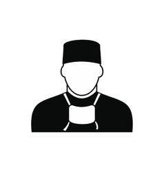 Doctor black simple icon vector image