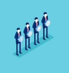 economy teamwork concept business isometric vector image